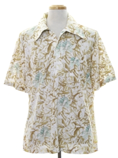 1970's Mens Hawaiian Inspired Sport Shirt