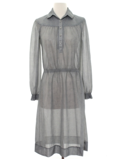 1970's Womens Sheer Secretary Dress