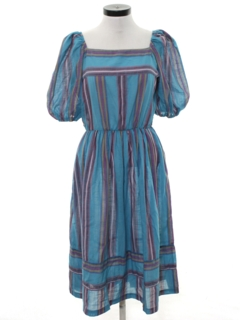 1980's Womens Hippie Style Dress
