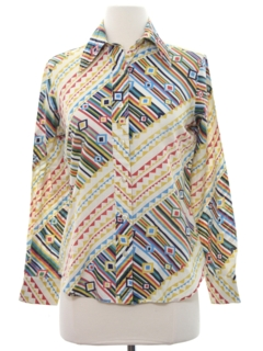 1970's Womens Hippie Western Shirt