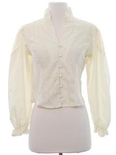 1970's Womens Prairie Style Shirt