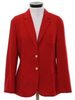 1980's Womens Boyfriend Style Blazer Sport Coat Jacket