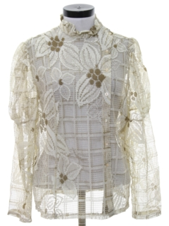 1970's Womens Hippie Style Sheer Shirt