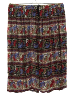 1980's Womens Broomstick Hippie Skirt