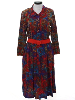 1980's Womens Hippie Dress