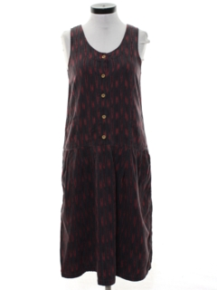 1990's Womens Guatemalan Style Hippie Dress