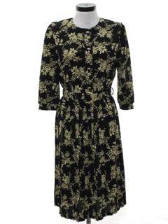 1980's Womens Totally 80s Secretary Dress