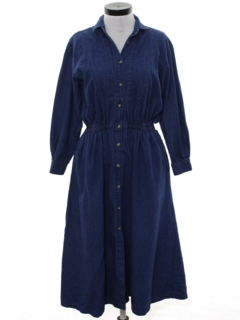 1990's Womens Wicked 90s Maxi Denim Dress