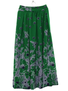 1970's Womens Knit Maxi Skirt