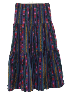 1980's Womens Maxi Hippie Skirt