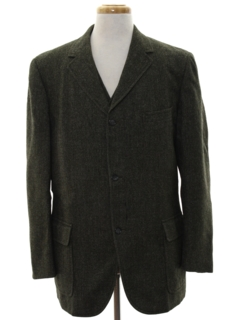 1960's Mens Wool Blazer Sport Coat Jacket and Matching Vest