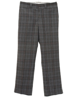 1970's Mens Flared Wool Slacks Pants
