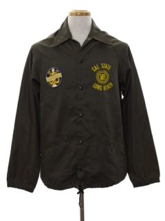 1970's Mens Wind Breaker Snap Jacket