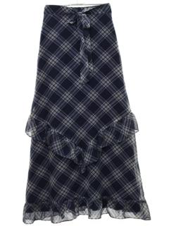1970's Womens Designer Maxi Skirt