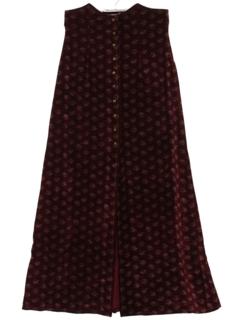 1970's Womens Velvet Maxi Skirt