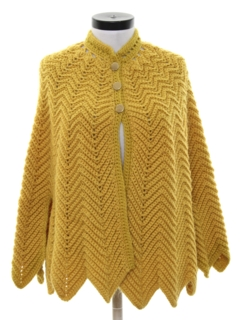 1970's Womens Sweater Poncho