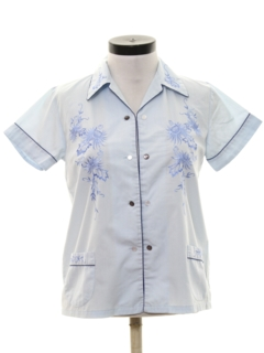 1970's Womens Asian Inspired Shirt
