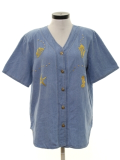 1980's Womens Denim Shirt