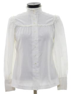 1980's Womens Totally 80s Prairie Style Shirt