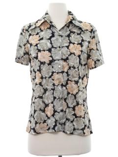 1970's Womens Print Disco Shirt