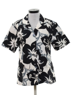 1970's Womens Mod Hawaiian Shirt