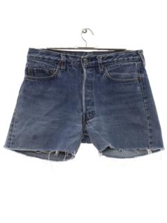 1980's Mens Levis 501 Cut Off Denim Shorts