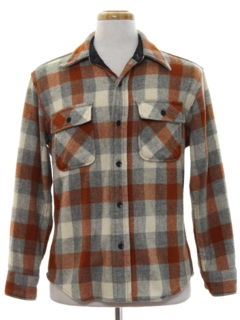 1970's Mens Flannel Wool CPO Style Shirt