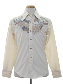 1970's Mens Hippie Style Western Shirt