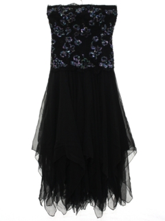 1990's Womens Wicked 90s Designer Prom Or Cocktail Dress