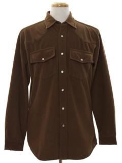 1990's Mens Corduroy Western Shirt
