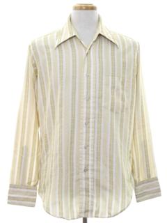 1960's Mens Mod Print Shirt