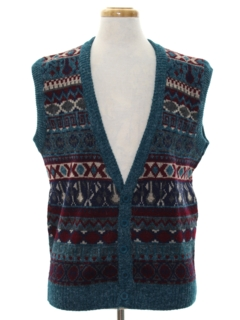 1980's Mens Totally 80s Sweater Vest