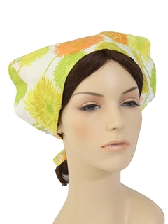 1960's Womens Accessories - Mod Hat Scarf