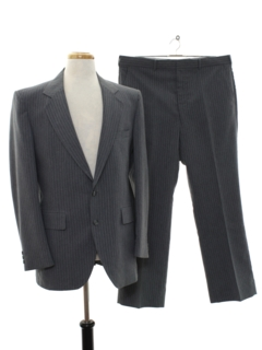1980's Mens Pinstripe Wool Suit
