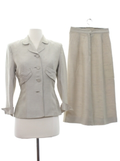 1950's Womens Wool Skirt Suit