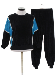 1980's Womens Totally 80s Velour Track Suit