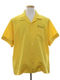 1960's Mens Mod Bowling Shirt