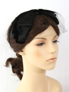 1950's Womens Accessories - Velvet Headband Hat