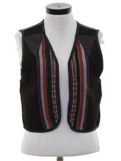 1990's Womens Hippie Leather Vest