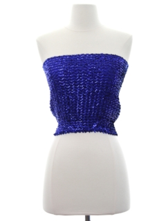 1980's Womens Totally 80s Sequined Tube Top
