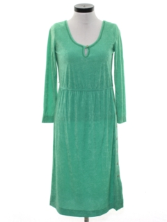 1980's Womens Totally 80s Terry Cloth Dress