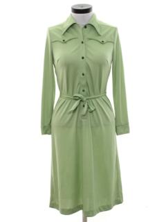 1970's Womens Western Style Disco Dress