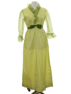 1960's Womens Maxi Prom Or Cocktail Dress