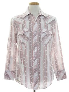 1970's Mens Western Shirt