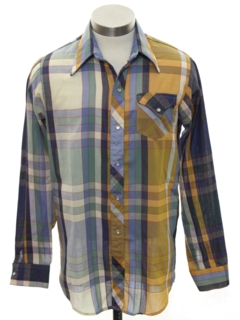 1970's Mens/Boys Western Shirt