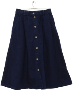 1980's Womens Totally 80s Denim Skirt