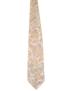 1970's Mens Wide Abstract Geometric Necktie