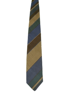 1960's Mens Diagonal Stripe Necktie