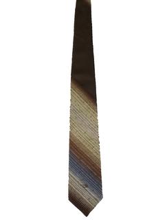 1980's Mens Designer Diagonal Stripe Necktie