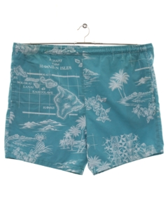 1980's Mens Totally 80s Hawaiian Shorts